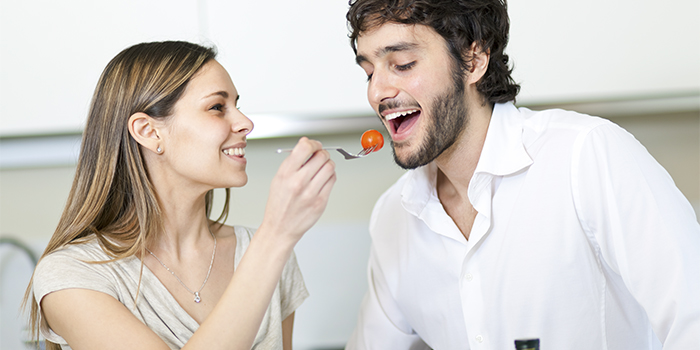 Cooking.Happy Couple Cooking Together